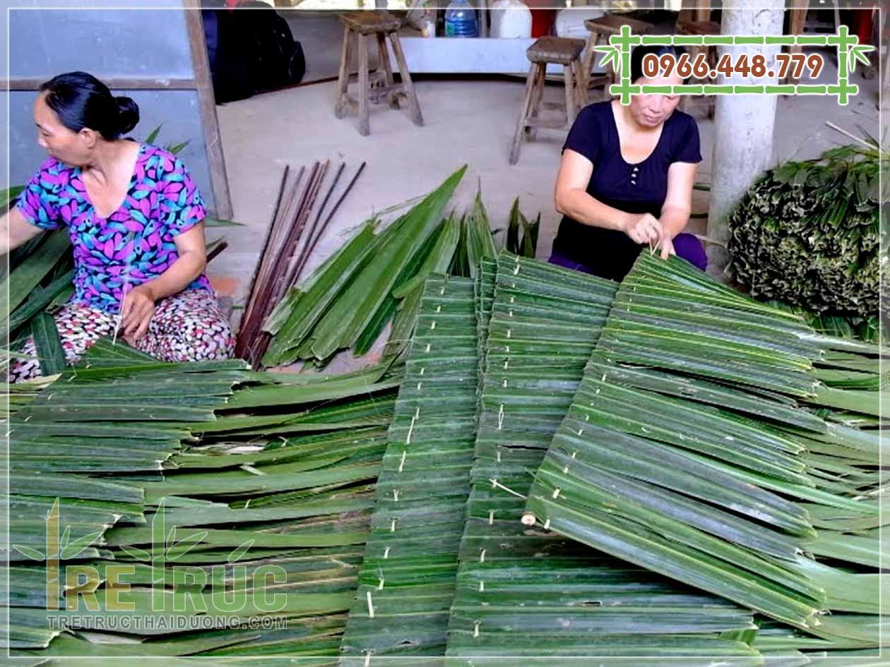 Lá dừa lợp nhà (lá dừa chằm)