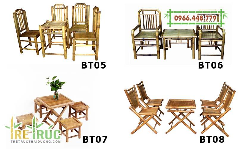 Những bộ bàn ghế tre quán cafe, nhà hàng ăn uống giá rẻ